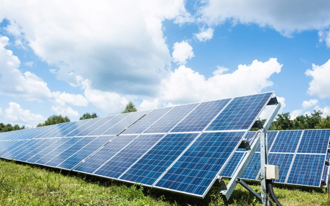 blue solar energy batteries with copy space and cl 6U3QZDR 1